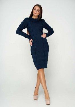 Платье вязаное Кемер 07 тёмно-синий