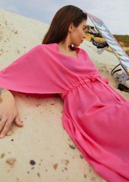 Туника Морэ неон розовый