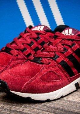 Кроссовки мужские в стиле Adidas Support Equpment, бордовые (1040-1),  [  44 (последняя пара)  ]