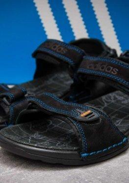 Сандалии мужские в стиле Adidas Summer, черные (13315),  [  43 44  ]