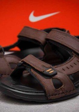 Сандалии мужские в стиле Nike Summer, коричневые (13324),  [  44 (последняя пара)  ]