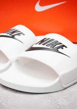 Шлепанцы мужские в стиле Nike FlipFlops, белые (13541),  [  41 (последняя пара)  ]