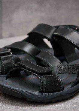 Сандалии мужские в стиле Levi's Summer, черные (13571),  [  41 44  ]