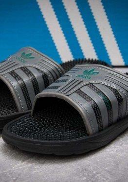 Шлепанцы мужские в стиле Adidas FlipFlops, серые (13631),  [  44 45 46  ]