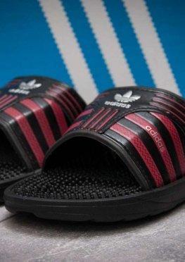 Шлепанцы мужские в стиле Adidas FlipFlops, черные (13633),  [  41 42 44 45 46  ]
