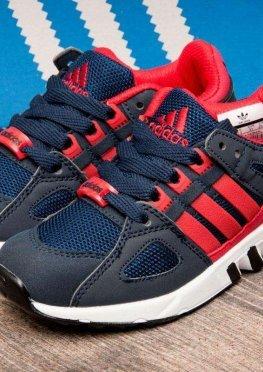 Кроссовки детские в стиле Adidas Equipment Running Support, темно-синий (2541-2),  [  32 33  ]