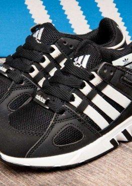 Кроссовки детские в стиле Adidas Equipment Running Support, черные (2541-3),  [  31 32 33  ]