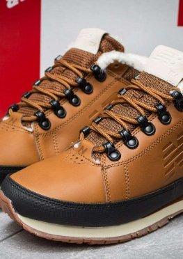 Зимние кроссовки на меху в стиле New Balance 754, коричневые (30264),  [  42 (последняя пара)  ]