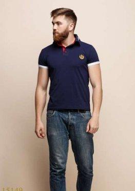 Мужская футболка 15149 синий