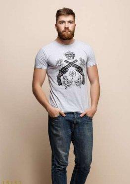 Мужская футболка 15153 серый