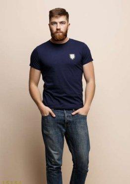 Мужская футболка 15154 синий