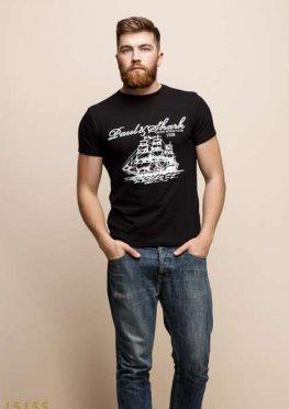 Мужская футболка 15155 черный