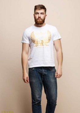 Мужская футболка 15159 белый