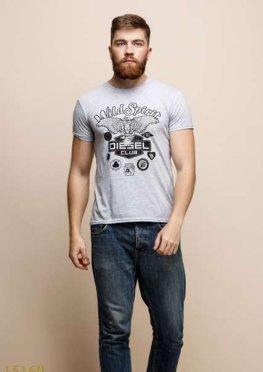 Мужская футболка 15160 серый