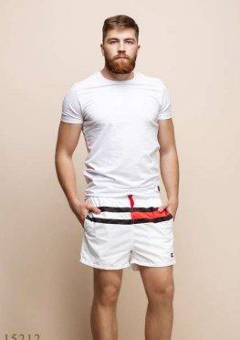 Мужские шорты 15212 белый