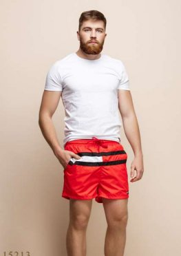 Мужские шорты 15213 красный
