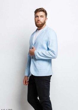 Мужской пиджак 15678 светлый голубой