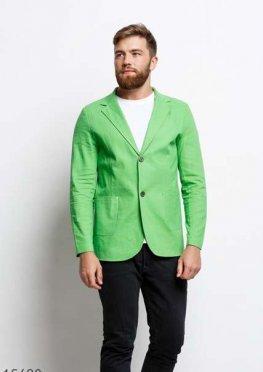 Мужской пиджак 15680 салатовый