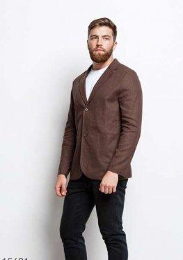 Мужской пиджак 15681 коричневый