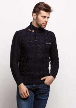 Мужской свитер 17425 темный синий