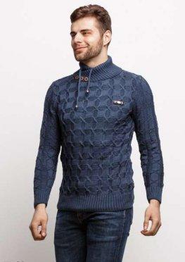 Мужской свитер 17430 синий