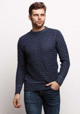 Мужской свитер 17434 темный синий