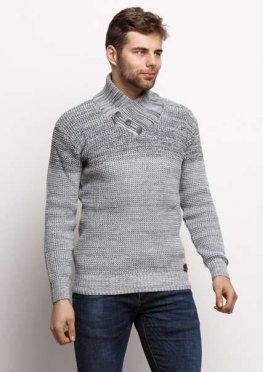 Мужской свитер 17444 серый