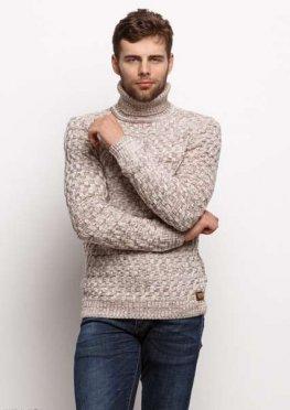 Мужской свитер 17448 бежевый