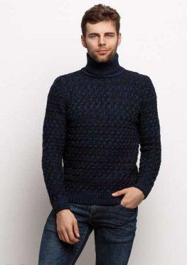 Мужской свитер 17449 темный синий