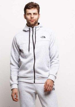 Мужской утепленный спортивный костюм 17465 серый