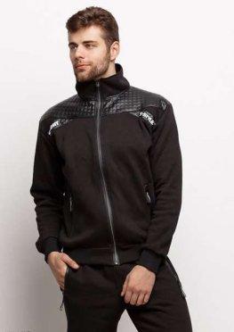 Мужской утепленный спортивный костюм 17470 черный