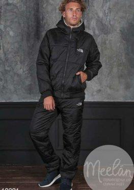 Мужской утепленный спортивный костюм 19891 черный