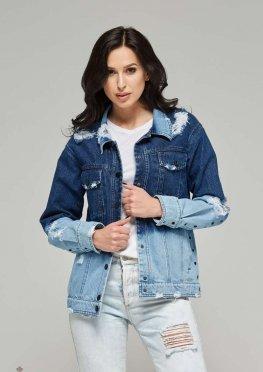 Mila Nova Джинсовая куртка-жакет Q-2