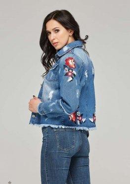 Mila Nova Джинсовая куртка-жакет Q-23