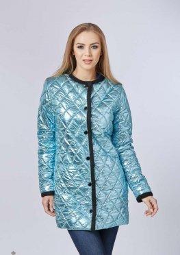 Mila Nova Куртка-плащ К-60 металлик Голубой