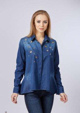 Mila Nova Джинсовая рубашка Р-4