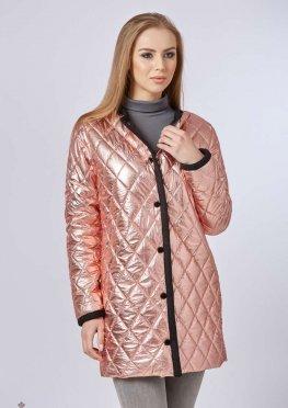 Mila Nova Куртка-плащ К-60 металлик Розовый