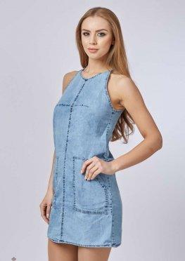 Mila Nova Джинсовое платье Ф-30 Синее