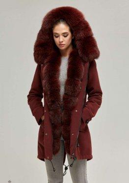 Mila Nova Зимняя парка-пальто П-60 Бордо