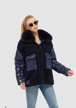 Mila Nova Куртка К-107 Синяя