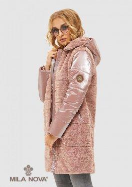 Mila Nova Куртка К-108 Розовая