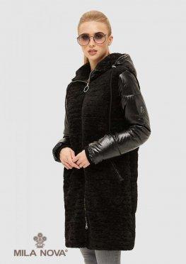 Mila Nova Куртка К-108 Черная