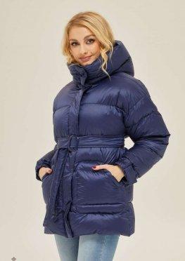 Mila Nova Куртка К-127 Синяя матовая