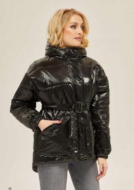 Mila Nova Куртка К-123 Черный блеск