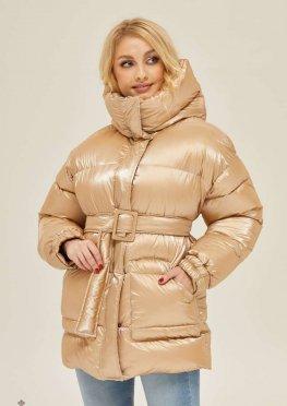 Mila Nova Куртка К-127 Бежевый блеск
