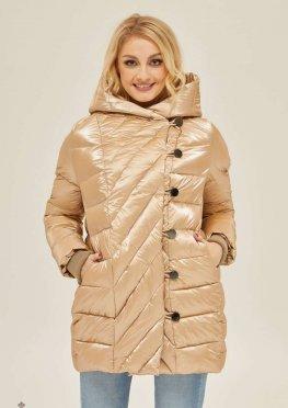 Mila Nova Куртка К-136 Бежевый блеск