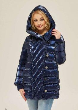 Mila Nova Куртка К-136 Синий блеск
