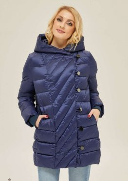 Mila Nova Куртка К-136 Синяя матовая
