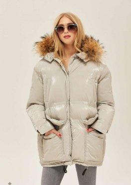 Mila Nova Куртка К-128 Светло-серая