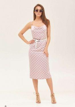Mila Nova Платье Ф-119 Розовый горох